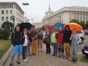 In Sofia by mistake - Sofia free tour with our guide and a group of tourists