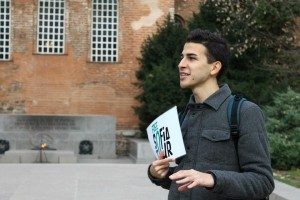 Nikola on one of his trial tours, part of the training