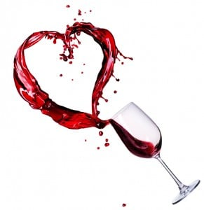 A Glass of wine with heart (february 14th)