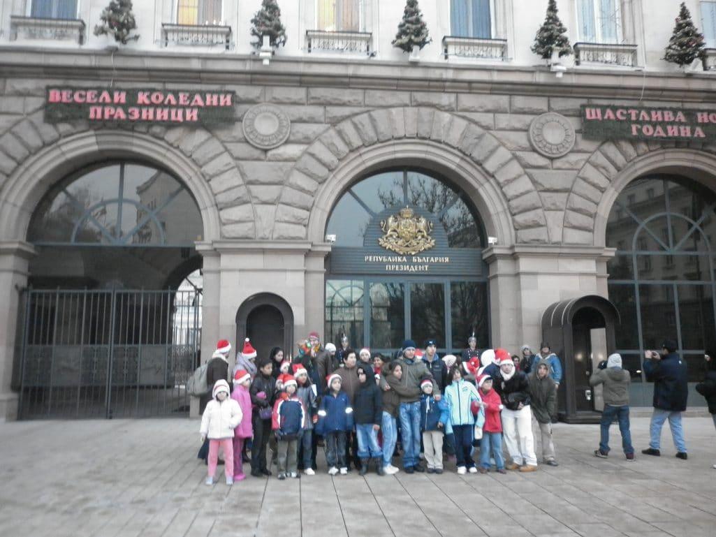 Децата от Доганово на зимна разходка в София