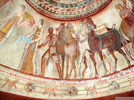 Frescoes in a Thracian tomb, the city of Kazanlak