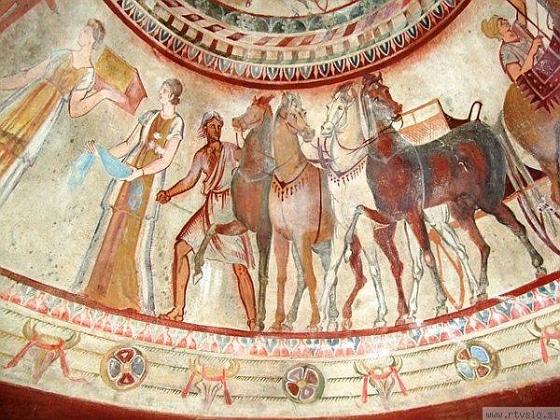 Frescoes in a Thracian tomb, the city of Kazanlak