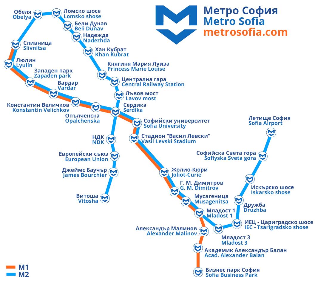 sofia metro lines