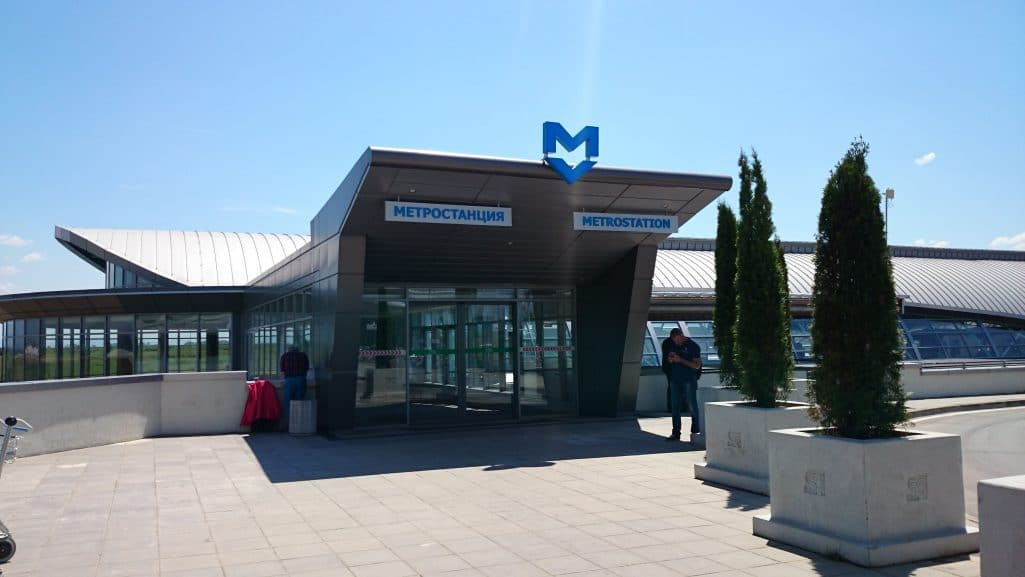 Entrance to the metro statuon, source: Guide to the Sofia metro