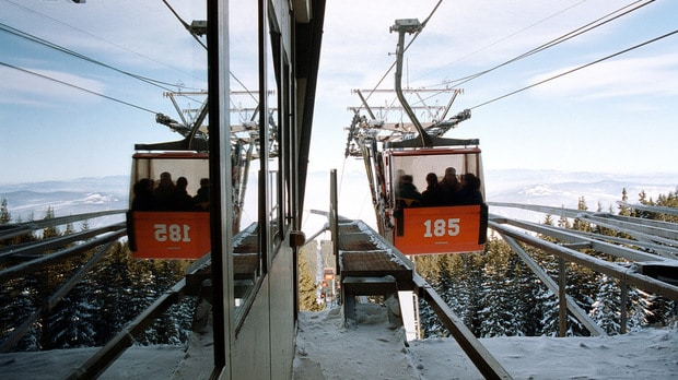 Vitosha mountain cabin lift