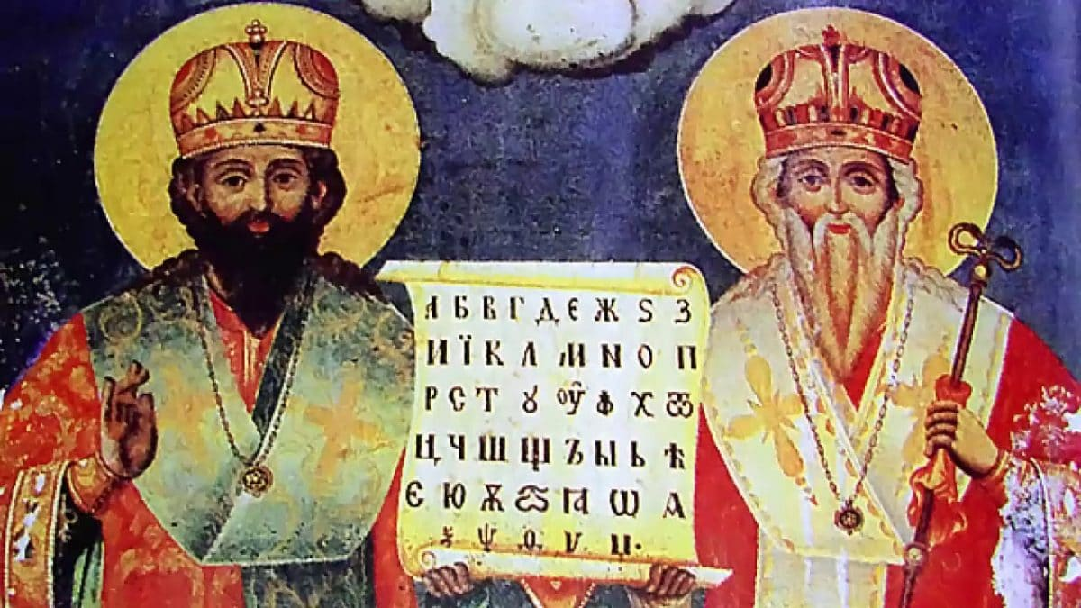 24th May - In the 9th century the Holy Brothers Sts. Cyril and Methodius created the Slavic alphabet.