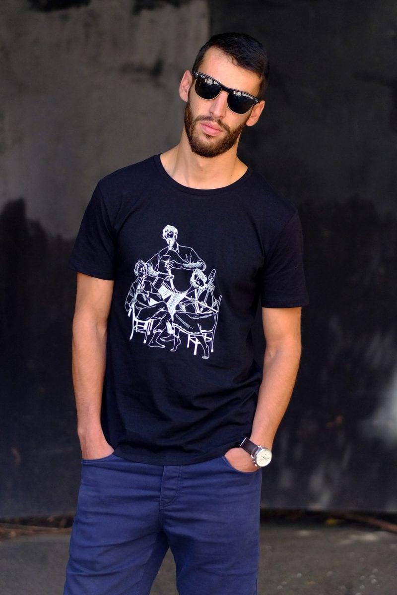 musicians black tshirt