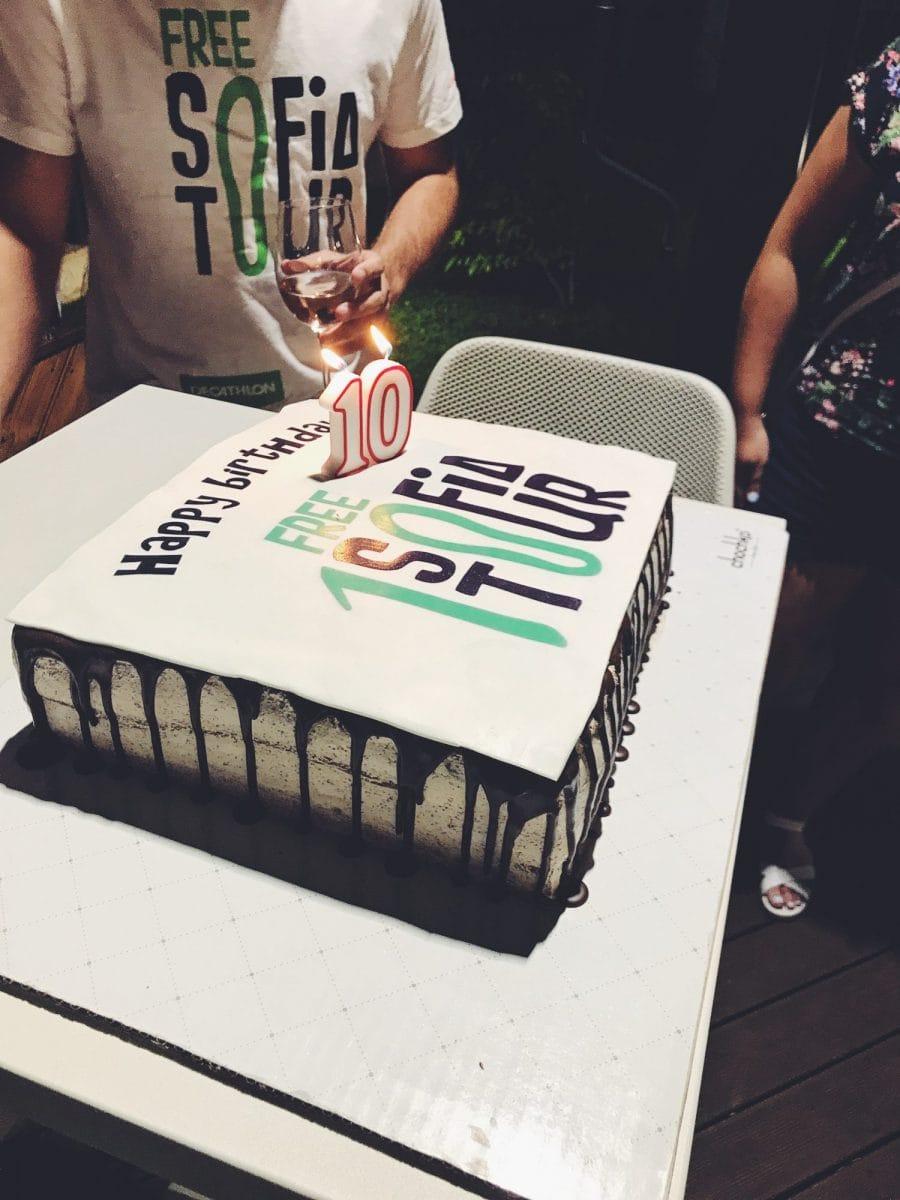 free sofia tour birthday cake