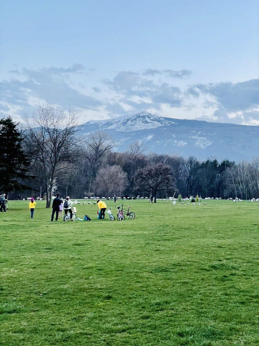 parks in spring sofia